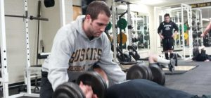 Matt Thome is the head strength and conditioning coach at Michigan Tech.  Along with his coaching responsiblities Matt also teaching multiple classes at Tech on strength and conditioning.